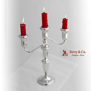 Three Candle Candelabrum Sterling Silver Reed and Barton