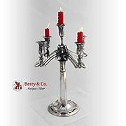 Art Nouveau Five Candle Candelabrum Silverplate 1910