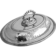 Ornate Oval Covered Dish Silverplate 1890