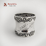 Strasbourg Napkin Ring Sterling Silver Gorham Silversmiths Dec 25 Inscription