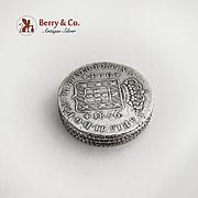 Portuguese 400 Reis Maria II Coin Box 833 Silver 1836