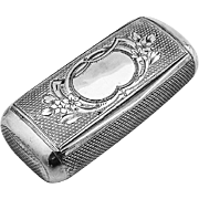 Engine Turned Snuff Box Austrian 875 Silver 1860