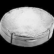 Engine Turned Pill Box Swedish 830 Standard Silver Stockholm 1928 C. G. Hallberg