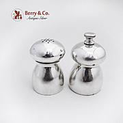 Salt Shaker and Pepper Grinder Sterling Silver