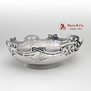 Art Nouveau Jugendstil Serving Bowl 800 Silver Wollenweber