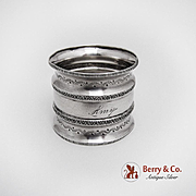 Aesthetic Napkin Ring Coin Silver Towle Silversmiths 1880