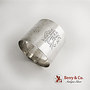 Vintage Napkin Ring 800 Silver Malta