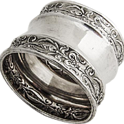 Embossed Napkin Ring Sterling Silver 1900