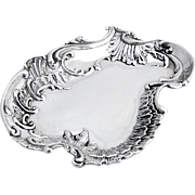 Ornate Baroque Dresser or Pin Tray Sterling Silver Sheffield 1900