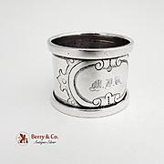 Napkin Ring Coin Silver c.1890 Monogram MDT
