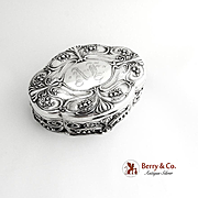 Art Nouveau Jewelry Box Sterling Silver Gorham 1900
