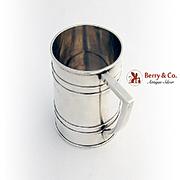 Barrel Form Large Mug Commemorative Inscription 995 Sterling Silver Japan 1930