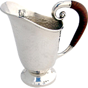 Hammered Pitcher Sterling Silver Arts and Crafts