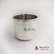 Baby Cup Sterling Silver International Monogram Jeffrey