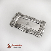Acid Etched Dresser Tray Sterling Silver Shreve and Co 1910