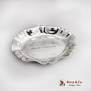 Oval Dish Presentation Bowl Sterling Silver Kirk and Son 1963