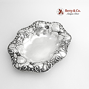 Ornate Poppy Bowl Sterling Silver Whiting 1900