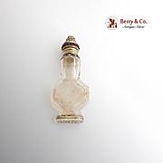 Antique Perfume Bottle Cut Glass Sterling Silver Garnets Gorham 1894