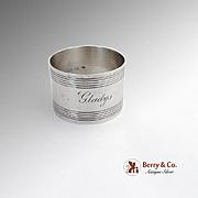 Vintage Napkin Ring Sterling Silver Webster 1940