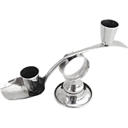 Hand Made Double Candlestick Sterling Silver