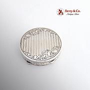 Austrian 900 Silver Round Engraved Box 1930