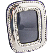 Vintage Sterling Silver Small Picture Frame Rounded Corners