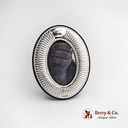 Small Oval Picture Frame Sterling Silver