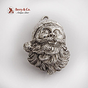 Gumps Sterling Silver Santa Claus Ornament