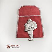 Gorham Santa Claus Ornament Sterling Silver 1976