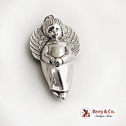 RM Trush Sterling Silver Angel Christmas Ornament