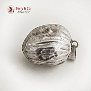 Walnut Christmas Ornament Sterling Silver