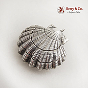 Shell Christmas Ornament Pendant Sterling Silver