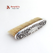 Repousse Floral Clothes Brush Sterling Silver
