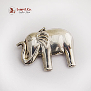 Vintage Elephant Christmas Ornament Pendant Sterling Silver