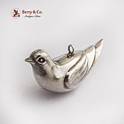Dove Christmas Ornament Pendant RM Trush Sterling Silver 1980