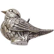 RM Trush Large Bird Christmas Ornament Sterling Silver 1980