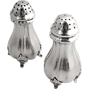 German Salt Pepper Shakers 835 Silver 1920