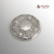 Towle Sterling Silver Round Floral Mirror