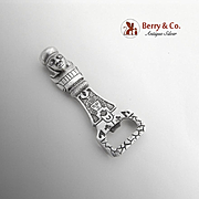 Figural Peruvian Bottle Opener Sterling Silver