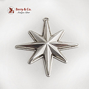 Reed And Barton Christmas Star Ornament Sterling Silver 1976