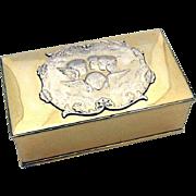 Reynolds Angels Gilt Box Cedar Lined Sterling Silver New York