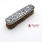 Floral Repousse Clothes Brush Gorham Sterling Silver Date Mark 1890