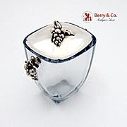 Danish Grape Crystal Ice Bucket DGH Sterling Silver 1970