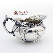 Gorham Creamer Monogram EMB Sterling Silver 1893 Date Marked