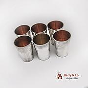 German 6 Vodka Liquor Shot Cups Set 800 Silver 1900
