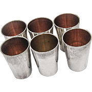 German 6 Vodka Liquor Shot Cups Set 800 Silver 1900