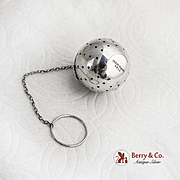 Vintage Tea Ball Sterling Silver Blackington 1920
