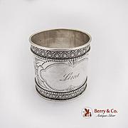 Vintage Engraved Napkin Ring Coin Silver 1890
