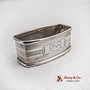 Art Deco Engraved Napkin Ring Sterling Silver Webster 1940