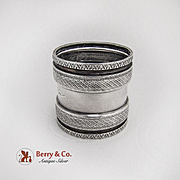 Engraved Die Rolled Napkin Ring Coin Silver 1875